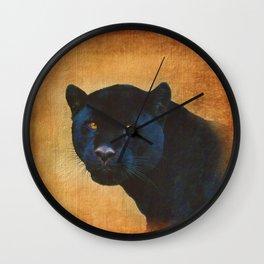 Black Jaguar in Portrait Wall Clock