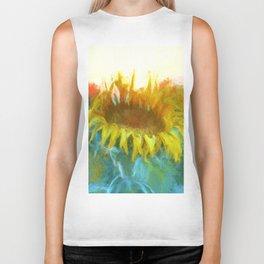 Sunflower Glow Artwork Biker Tank