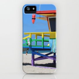 Rainbow Lifeguard Stand (Venice, California) iPhone Case