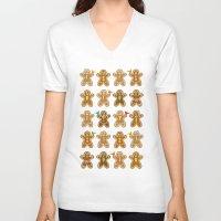 ginger V-neck T-shirts featuring Ginger by Kakel