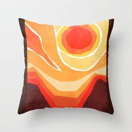 Modern Mid-Century Desert Sunset Throw Pillow