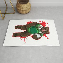 Strong Rugby Bear Rug