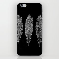 Patterned Plumes - White iPhone & iPod Skin