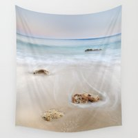 """dancing Wall Tapestries featuring """"Dancing waves"""" by Guido Montañés"""