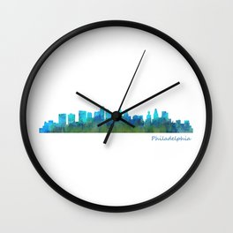 Philadelphia City Skyline Hq V1a Wall Clock