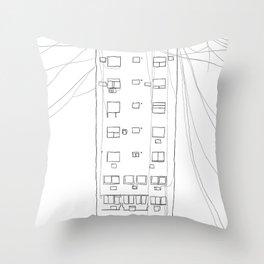 building Throw Pillow
