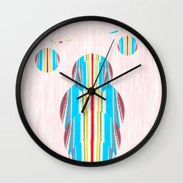 Symmetrical Circle Being: Innerlight Wall Clock