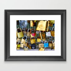 Love Lock Bridge-Paris Framed Art Print