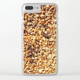 True grit - coarse sand Clear iPhone Case