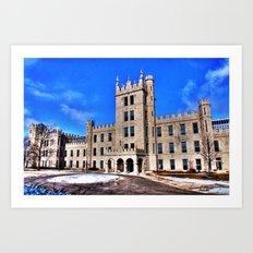Northern Illinois University Castle - HDR Art Print