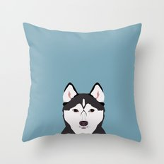 Shiloh - Husky Siberian Husky dog art phone case perfect gift for dog people Throw Pillow