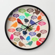 Birdsong_Gosh Quotes by Garima & Rachel Wall Clock