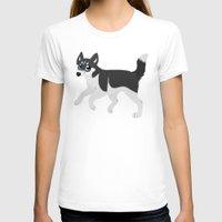 husky T-shirts featuring Husky by Sarah