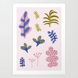 Abstract Plant Print Art Print