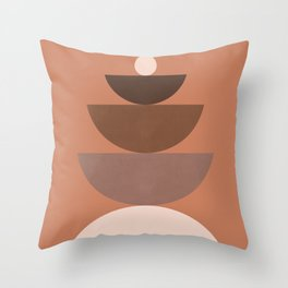 Abstraction_BALANCE_Bohemian_Minimalism_Art_001 Throw Pillow