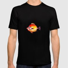 Pesce rosso Black Mens Fitted Tee MEDIUM