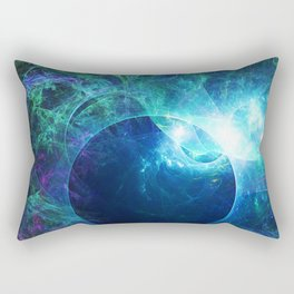 Abstract colorful shiny print graphic with planet space Rectangular Pillow