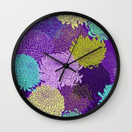 Chrysanthemum blossom Wall Clock