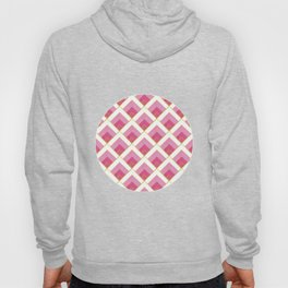 Pink and Gold Diamond Art Deco Pattern Hoody