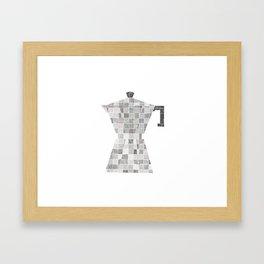 Coffee line maker Framed Art Print