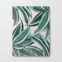 Dracaena Tropical Leaves Pattern #1 #tropical #decor #art #society6 Metal Print