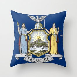 New York State Flag Throw Pillow