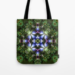 Fractal Forest Indigo Tote Bag