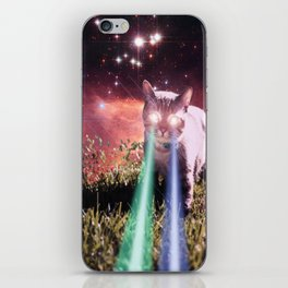 Mega Space Cat Rising iPhone Skin
