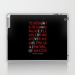 To Design by Milton Glaser Laptop & iPad Skin