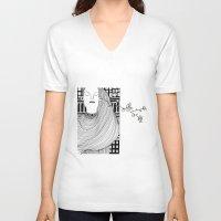 lemon V-neck T-shirts featuring Lemon by Masholand