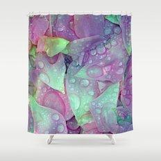 RAIN PETALS Shower Curtain