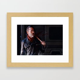 Negan And Lucille - The Walking Dead Framed Art Print