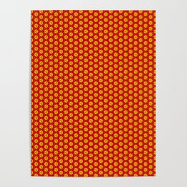 red and yellow Poster