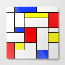 Mondrian2 Metal Print