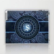 Monogrammed Aridi S Blue Laptop & iPad Skin