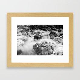 ruscello tra i sassi Framed Art Print