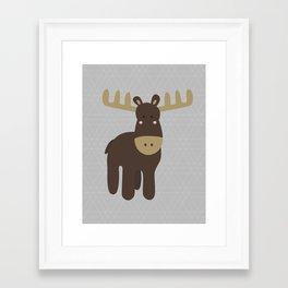 Edward the Moose Framed Art Print