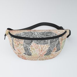 Tribal Paisley Elephant Colorful Henna Floral Pattern Fanny Pack