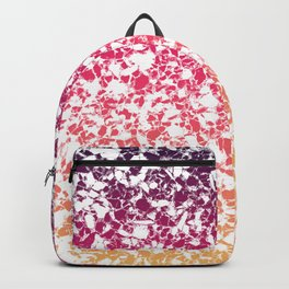 Terrazzo in pink, purple and yellow colors Backpack