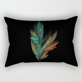 flora green fractal Rectangular Pillow