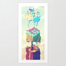 Triplex Art Print