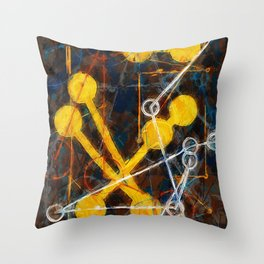 atoms and chain reactions Throw Pillow