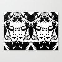 satan Canvas Prints featuring HA SATAN HA SATAN by Kathead Tarot/David Rivera