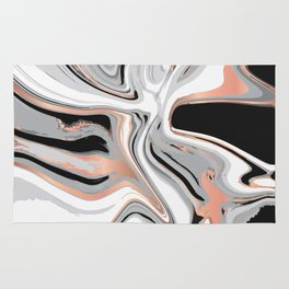 Liquid Marble with Copper Lines 015 Rug