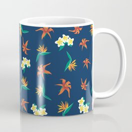 Exotic Florals Blue Coffee Mug