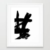 Framed Art Prints featuring Abstract black & white 2 by Dream Of Forest