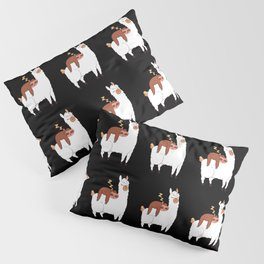 Llamas Cute Alpaca with Lazy Sloths Pillow Sham