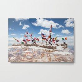 Salar de Uyuni International Flags Metal Print