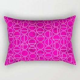 Pink Heaxagon Geomentric Pattern Rectangular Pillow