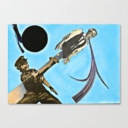 Blue Rain Black Sun Canvas Print